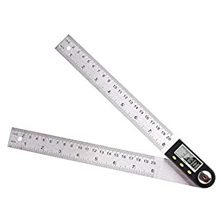 FIXKIT Digital Angle Ruler with LCD Display Angle Finder Protractor 400mm 0-360 Degree