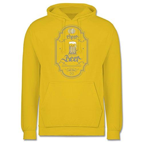 Statement Shirts - Cheer Beer - Männer Premium Kapuzenpullover / Hoodie Gelb