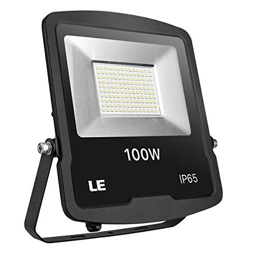 LE Foco LED Proyector, 100W 8000lm Blanco frío, Resistente al agua IP65,...