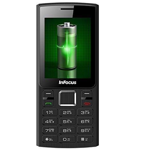 Infocus Hero Power B1 F229-3T, Black/Grey Dual Tone Mobile Phone (3000 mAh Battery, 2.4 Inch Screen)