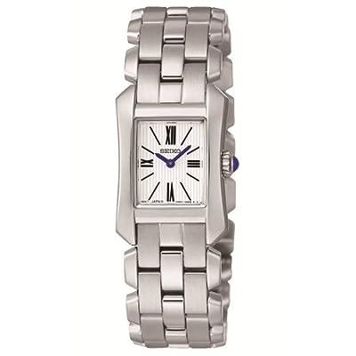Seiko SUJG69P1 - Reloj con correa de acero para mujer, color blanco / gris de Seiko