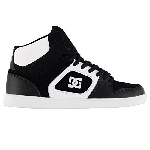 DC Uomo Union Scarpe Da Skate Pattinaggio Alte Stringate Colletto Imbottito Nero/Bianco