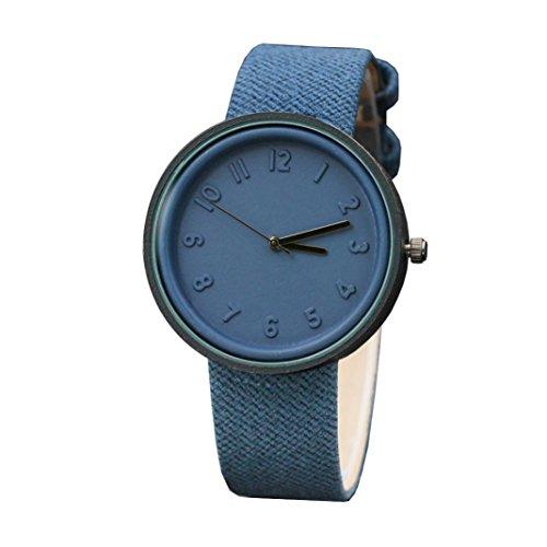 ae4a8ba7d Moda Simple Unisex Reloj De Pulsera De Cuarzo Con Correa De Lona De Number  Watches Relojes