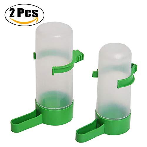 Legendog 2PCS Wasser Feeder Flaschen Hängend Leck Beweis Vogel Wasser Feeder Käfig Wasser Flaschen Feeder Tränken -