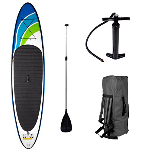 SUP Board Stand up Paddling Surfboard SPEED 320x76x15cm aufblasbar Alu-Paddel Hochdruck-Pumpe Transportrucksack Paddle