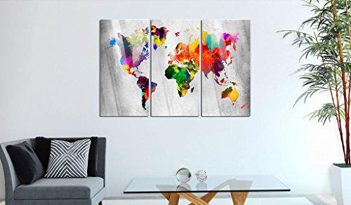 murando Modernes Acrylglasbild 120x80 cm - Glasbilder - 3 Teilig - Wandbilder XXL - Kunstdrucke - Wandbild - Weltkarte Welt Karte Kontinent Landkarte k-A-0098-k-e - 7