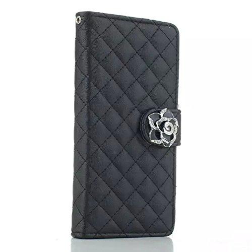 Uming® Il modello della stampa della custodia per armi variopinta della copertura Holster Cover Case ( Black - per (5.5 Inches) Iphone 6Plus 6S IPhone 6 plus ) Flip-artificiale in pelle con staffa sup Black