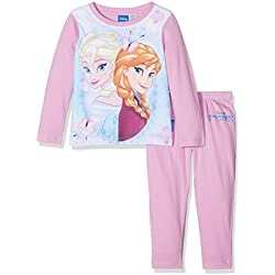 Frozen Girl's Elsa And Anna Disney Frozen Character Long Sleeve Pyjama Set, Purple, 5-6 Years (Manufacturer Size: 5-6)