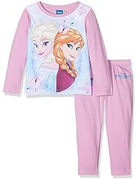 Disney Frozen Girl's Elsa and Anna Character Pyjama Set