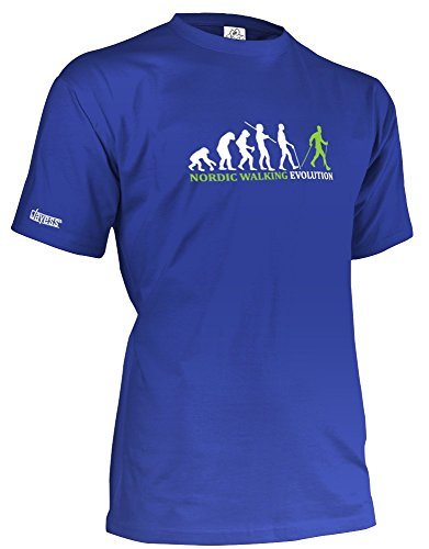 NORDIC WALKING EVOLUTION - HERREN - T-SHIRT in Royalblau by Jayess Gr. XL