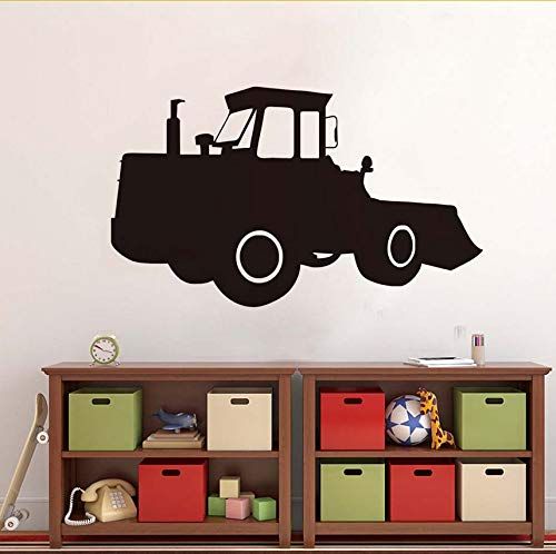 Wuyyii Room Decoration Wallpaper Black Digger Kids Gift Pvc Waterproof Self Adhesive Wall Mural Living Room Home Decor Wall Sticker 59X35Cm