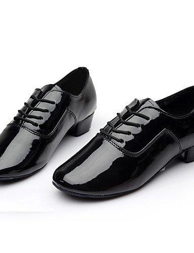 ShangYi Chaussures de danse ( Noir / Blanc / Argent / Or ) - Non Personnalisables - Talon Bottier - Similicuir - Latine / Samba Gold