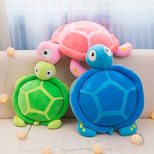 Homieco Ausgestopft Plüsch Spielzeug Kissen Meer Schildkröte Weich Berühren Umarmung Puppe Werfen Kissen for Couch, Auto, 12 x 18inch/Green