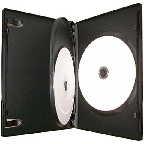 Four Square Media 1x CD DVD/BLU RAY 14mm de color negro DVD 3way funda para 3disco–Pack de 1