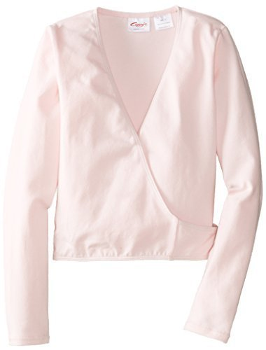 Capezio Little Girls' Classics Wrap Top, Pink, Small by Capezio Girls 2-6x (Wrap Capezio)