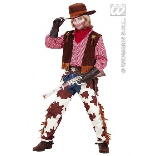Widmann Cowboy-Kostüm für Jungen, 140 cm, Größe M, 8-10 Jahre (140 cm) (Gunfighter Cowboy Kostüm)