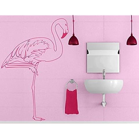 Adesivo da parete No. IS48Flamingo Mare Spiaggia Zoo selvaggia rosa, Crema 837, 186x122