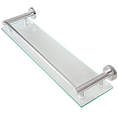 Aquamarin Glass Wall Shelf for Bathroom