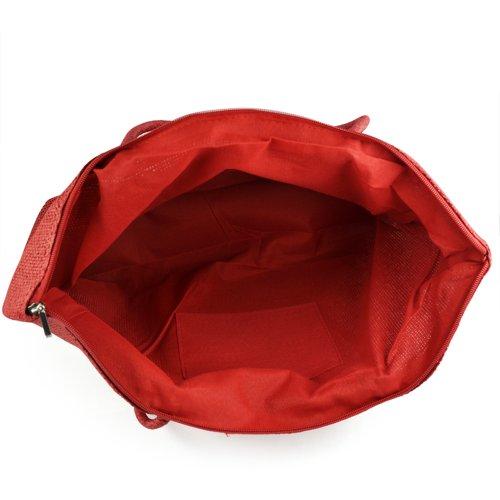 SODIAL(R), Borsa tote donna Rosso Rosso/rosa Rosso (rosso)