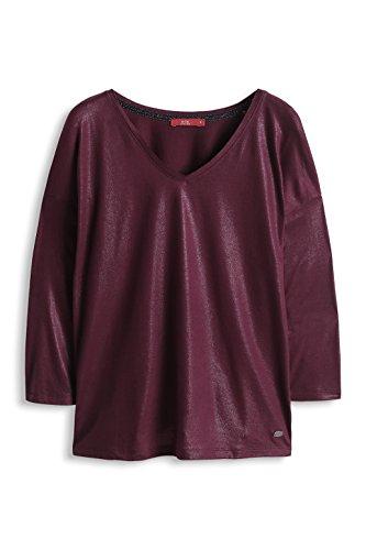 edc by ESPRIT Damen T-Shirt 114cc1k036 Violett - Purple (Grape Juice)