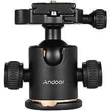 """Andoer trípode de cámara Rotula Joby con la placa del lanzamiento rápido de 1/4 """"tornillo"""
