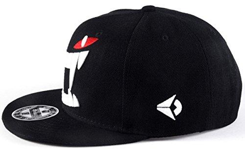 Imagen de aivtalk  negra  de béisbol hip hop sombrero plano con bordado ajustable snapback accesorio para homber mujer alternativa