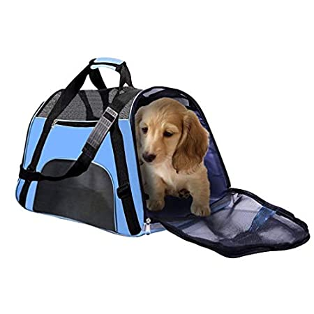 Haustiertasche Transporttasche für Kleine Hunde und Katzen Tasche Reise Wasserdicht Trägerkäfig katzentasche…