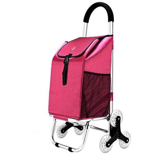 shopping cart JF Einkaufswagen/Pull Cart/Massensupermarkt/Faltbar portabel (Farbe : B, Größe : 6 Rounds) (Golf-cart Großer Tag)