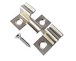 ZIAS 100 Edelstahl Terrassenclips Clips Klammer WPC Dielen Terrassendielen inkl. Schrauben (Klemmbereich 8mm)