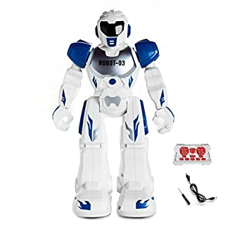 Amtop Remote Control Robots Interactive Walking Singing Dancing Smart Programmable RC Robotic Toys for Kids Boys Girls