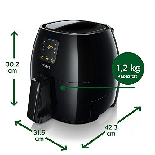 Philips HD9240/90 Airfryer XL Heißluftfritteuse, 2075 W - 2100 W, 1,2kg Kapazität, schwarz