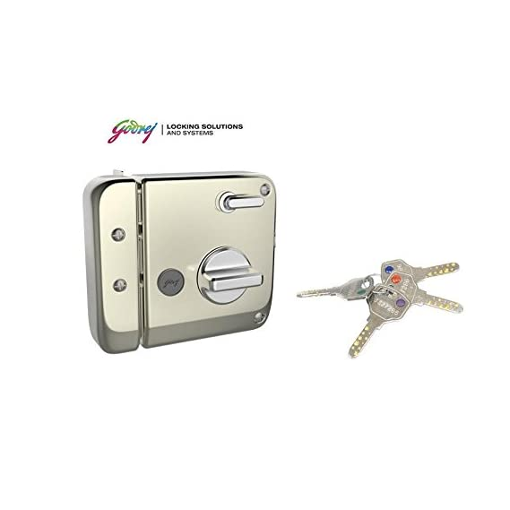 godrej Tribolt Main Door Lock Ultra Xl Deadbolt (Satin Nickel), Installation