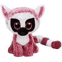 TY 37225 - Leeann - Lemur Pluschtier mit Glitzeraugen  Glubschi's  Beanie Boo's, rosa