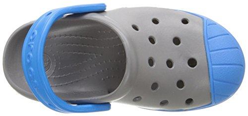 Crocs Bump It Clog, Sabots Mixte Enfant Gris (Smoke/Ocean)