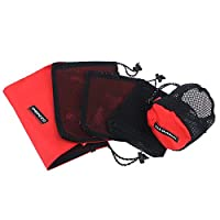 Zihuist Mesh Produce Bags Mesh Drawstring Storage Reusable Durable for Travel Outdoor Activity Pack of 5