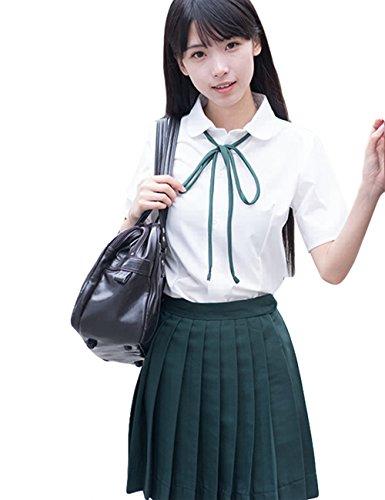 YUANMO Japanische Cosplay Schuluniform matrosenanzug mädchen JK-Uniform Faltenrock mit Weißem ()