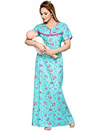 SOULEMO 100%PURE COTTON FEEDING NIGHTY / MATERNITY DRESS, THANK YOU to 12000+ happy mom's across India for this style & still counting. SIZE CHART - PLEATTED LONG NIGHTY. 399