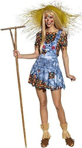 Fancy Me Damen Ernte Vogelscheuche Schule Fest Halloween Karneval TV Buch Film Kostüm Kleid Outfit - Multi, UK 14-16 (EU42/44)