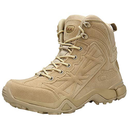 Fascino-M』 Herren Wanderstiefel Dschungelstiefel Trekkingstiefel Atmungsaktive Military Boots US Army Schuhe für Outdoor Camping Wanderschuhe Bergsteigen Wüsten Offroad (Kostüm Schwarzen Wüste)