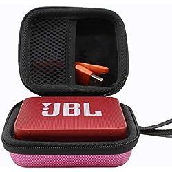 ESCOCO Dur Cas étui de Voyage Housse pour JBL GO/GO2 Enceinte Portable Bluetooth (Rose)