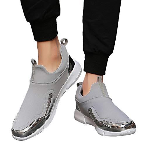TianWlio Stiefel Frauen Herbst Winter Schuhe Stiefeletten Boots Paar Outdoor Mesh Beiläufig Sportschuhe Soft Bottom Ausgeführt Schuhe Turnschuhe Grau 38