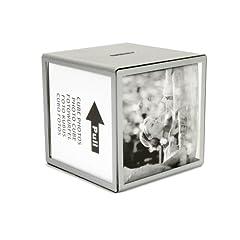 Idea Regalo - HAB & GUT (FRBOX001) Cornici per foto da salvadanaio CUBO argento, 9,5 x 9,5 x 9,5 cm, per 5 foto