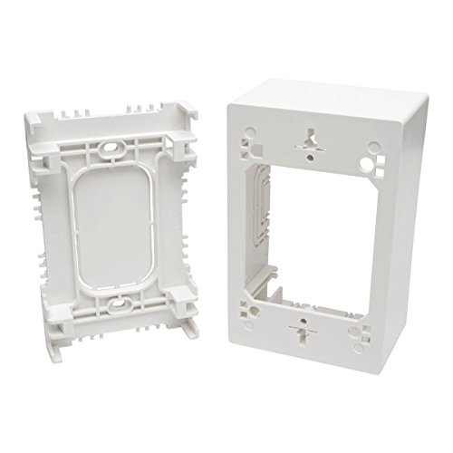 Tripp Lite Single-Gang Surface-Mount Junction Box, Wallplate, White (N080-SMB1-WH) Gang Surface Mount Box