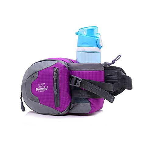 RichDeer Multifunktionale Outdoor Sport Reise Hüfttasche Gürteltasche Bauchtasche mit Flaschenhalter für Camping Reise Wandern - Mit Bauchtasche Flaschenhalter