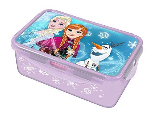 POS 28680 - Lunch to Go Clipdose mit Disney Frozen Motiv, ca. 20,5 x 13,5 x 7 cm, 2 herausnehmbare Einsätze, auslaufsicher, Mikrowellen- und Spülmaschinengeeignet, gefrierfest, bpa- und phthalatfrei