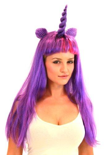 ony Kostüm Wigs Violett/Pink (Magie) Einheitsgröße (My Little Pony Erwachsene Kostüme)