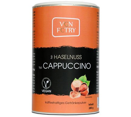 VGN FCTRY Instant Cappuccino Haselnuss 280g Vegan