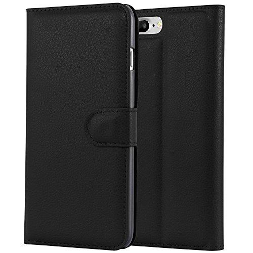 HANDYPELLE® PREMIUM Tasche für Apple iPhone 7 und 8 (4,7 Zoll / 11,9 cm) Bookstyle in Grün Schwarz