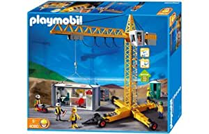playmobil crane container construction office 4080 co uk toys