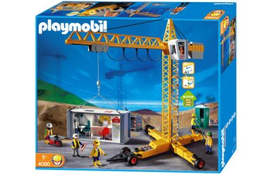 Playmobil 4080 - Construction Crane sitio de obras